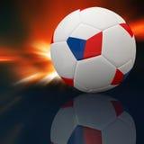 Czech Republic flag on 3d football Stock Image