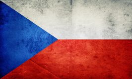 Czech Republic flag background. Retro style. royalty free stock photo