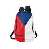 Czech Republic flag backpack isolated on white Royalty Free Stock Photography