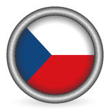Czech Republic flag button Royalty Free Stock Images
