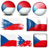 Czech Republic flag in different designs Royalty Free Stock Photography