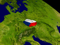 Czech republic with flag on Earth Royalty Free Stock Image