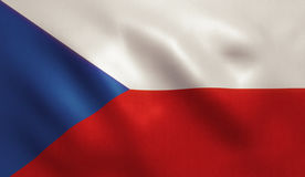 Czech Republic Flag. With fabric texture. 3D illustration Royalty Free Stock Photo
