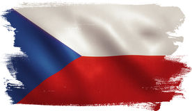 Czech Republic Flag. With fabric texture. 3D illustration stock illustration