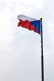 Czech republic flag Stock Photo