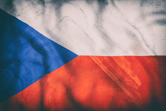Czech Republic flag waving Royalty Free Stock Photography