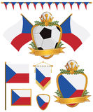 Czech republic flags Stock Photos