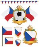 Czech republic flags Stock Photos