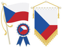 Czech republic flags Stock Images