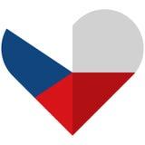 Czech Republic flat heart flag Royalty Free Stock Photo