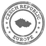 Czech Republic grunge rubber stamp map and text. Royalty Free Stock Photos