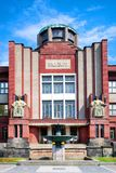 Famous modernist Museum of East Bohemia, historical town Hradec. CZECH REPUBLIC, HRADEC KRALOVE - MAY 7, 2015: famous modernist Museum of East Bohemia by arch. J Royalty Free Stock Images