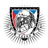 Czech republic ice hockey shield Stock Images