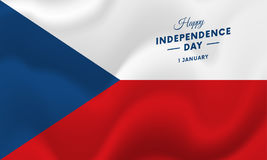 Czech Republic Independence Day. 1 January. Waving flag. Vector. Czech Republic Independence Day. 1 January. Waving flag. Vector illustration royalty free illustration