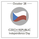 Czech Republic Independence Day, October 28 Stock Photo