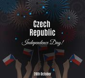 Czech Republic Independence Day placard Royalty Free Stock Image
