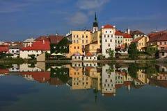 Czech republic, Jindrichuv Hradec. Old town Stock Image