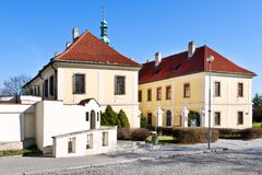 Castle and town gallery, Kladno, Central Bohemia, Czech republic. CZECH REPUBLIC, KLADNO - APR 7, 2018: Castle and town gallery, Kladno, Central Bohemia, Czech Stock Photos