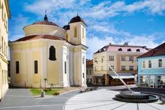 Saint Florian chapel by arch. Dientzenhofer, historical town center of town Kladno, Central Bohemia, Czech republic. CZECH REPUBLIC, KLADNO - SETP 18, 2015 Stock Images