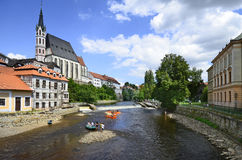 Czech Republic, Krumlov Royalty Free Stock Photos