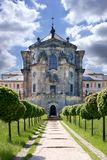 Complex of baroque hospital from 1692 with M.B. Braun statues, Kuks, East Bohemia, Czech Republic. CZECH REPUBLIC, KUKS - JUN 18, 2007: complex of baroque Royalty Free Stock Image