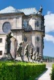 Complex of baroque hospital from 1692 with M.B. Braun statues, Kuks, East Bohemia, Czech Republic. CZECH REPUBLIC, KUKS - JUN 18, 2007: complex of baroque Stock Photo