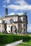 Complex of baroque hospital from 1692 with M.B. Braun statues, Kuks, East Bohemia, Czech Republic. CZECH REPUBLIC, KUKS - JUN 18, 2007: complex of baroque Stock Images