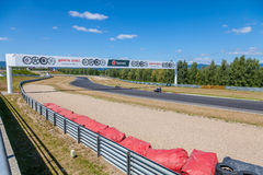 CZECH REPUBLIC, MOST, 25 JULY, 2015:Trainings of motorbikes on the race track. royalty free stock photo