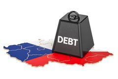 Czech Republic national debt or budget deficit, financial crisis Royalty Free Stock Photo