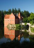 Czech Republic - noted red castle Cervena lhota. The Cervena Lhota castle in Southern Bohemia, Sumava Stock Image