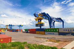 CZECH REPUBLIC, NYRANY,  27 APRIL,  2015: Nyrany container terminal. Stock Photography