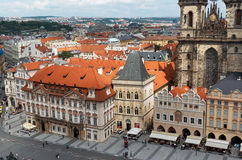 Czech Republic. Old Town Square in Prague. June 13, 2016. Czech Republic. Prague. Old Town Square in Prague. June 13, 2016 Stock Photography