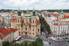 Czech Republic. Old Town Square in Prague. View from above. June 13, 2016. Czech Republic. Prague. Old Town Square in Prague. View from above. June 13, 2016 Stock Photo