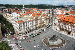 Czech Republic. Old Town Square in Prague. View from above. June 13, 2016. Czech Republic. Prague. Old Town Square in Prague. View from above. June 13, 2016 Stock Image