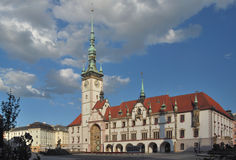 Czech republic, Olomouc. View of city hall on main squre Stock Photography