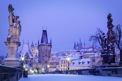 Czech Republic, Pague, Charles Bridge Stock Photos