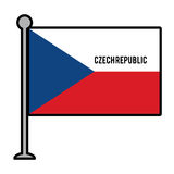 czech republic patriotic flag isolated icon Royalty Free Stock Photography