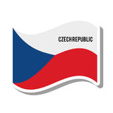 Czech republic patriotic flag isolated icon Stock Photography