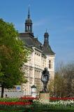 Czech Republic Pilsen. Park with sculpture Stock Images