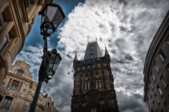Czech Republic. Powder Tower in Prague. June 13, 2016 Stock Images