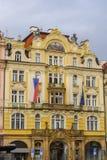 Czech Republic Prague art nouveau building in Old Town Square Royalty Free Stock Photos