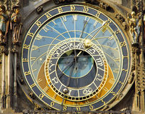 Czech Republic, Prague: the astronomical clock. Czech Republic, Prague: famous astronomical clock royalty free stock photography