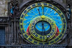 Czech Republic. Prague astronomical clock in the Old town royalty free stock photo
