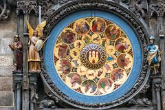 Czech Republic. Prague astronomical clock in the Old town stock image