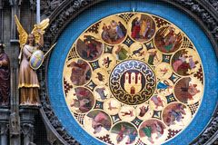 Czech Republic. Prague astronomical clock in the Old town royalty free stock photography
