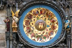Czech Republic. Prague astronomical clock in the Old town stock images