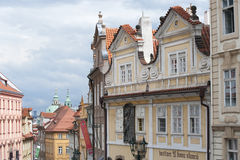 CZECH REPUBLIC, PRAGUE - August 4, 2014: view of street in the h Royalty Free Stock Photo