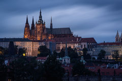 Czech republic, Prague Castle on twilight. Stock Images