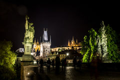 Czech Republic Prague Charles Bridge Castle Cathedral and more at twilight capitol city at night. Czech Republic Prague Charles Bridge Castle Cathedral and more Royalty Free Stock Photos