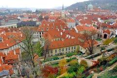 Czech Republic, Prague: City view. Czech Republic, Prague: Autumn City view with red roofs stock photography